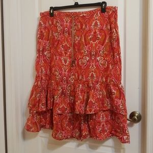 Abstract Bohemian Skirt